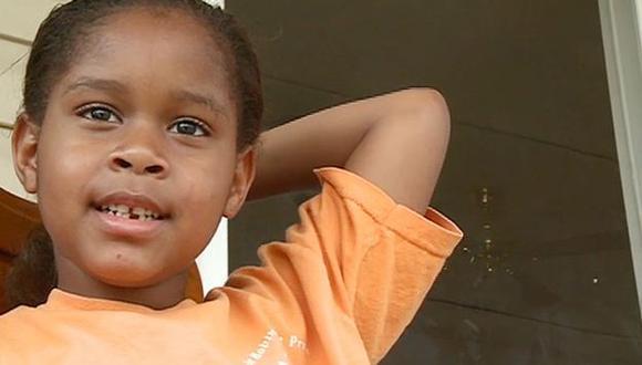 ABUSO. La pequeña Salecia quedó conmocionada por su arresto. (AP)