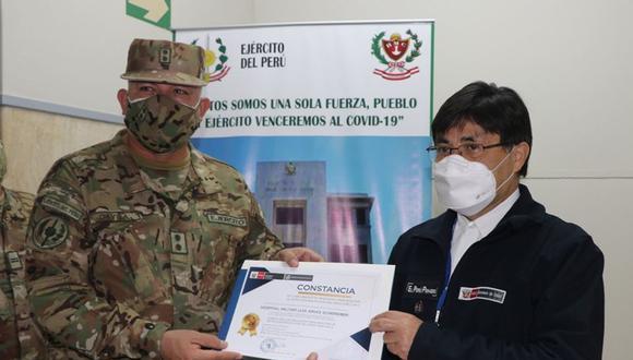 La autorización se logró gracias al esfuerzo del equipo de salud del Hospital del Ejército Peruano y la asistencia técnica del INS entre los meses de julio y agosto. (Foto: INS)