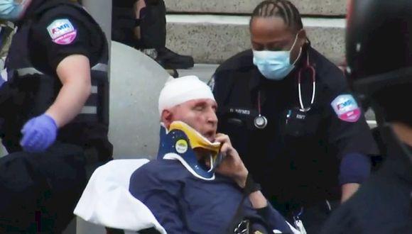 Se recupera hombre agredido por policía de Buffalo, cuya agresión se viraliza. (Captura de Pantalla / WBFO)