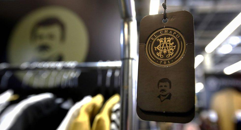 Cinturones, gorros y casacas, 'El Chapo' Guzmán convertido en moda. (Foto: AFP)