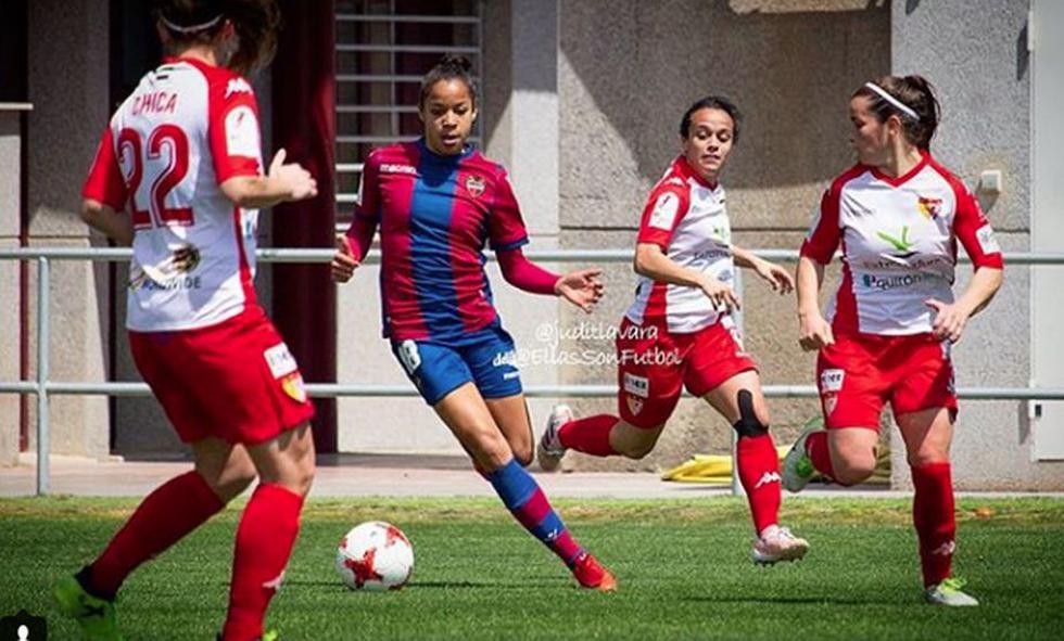 Jéssica Silva, la futbolista del Levante que deja boquiabiertos con esta espectacular jugada. (Instagram/JessicaSilva)