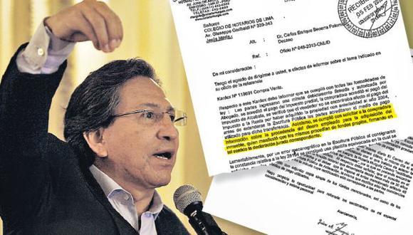 Documento notarial de su suegra echa más dudas sobre transparencia de compras inmobiliarias. (Perú21)