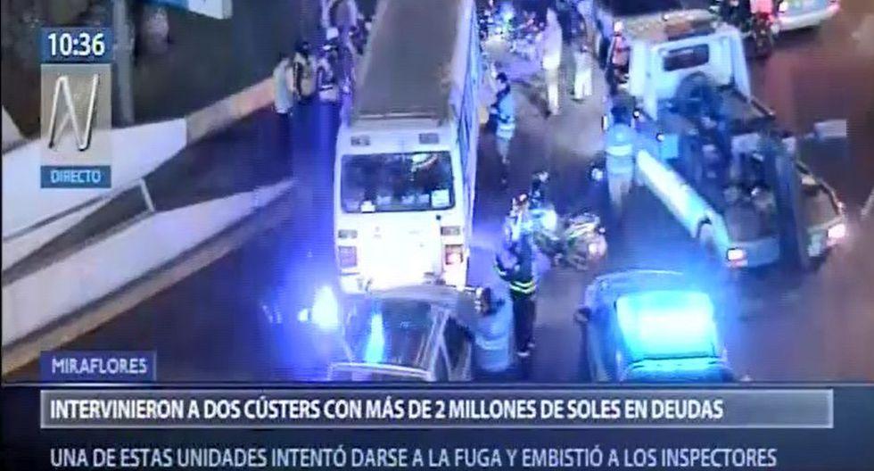 Ambos vehículos fueron trasladados hasta el depósito municipal ubicado en la avenida Mariscal La Mar. (Captura: Canal N)