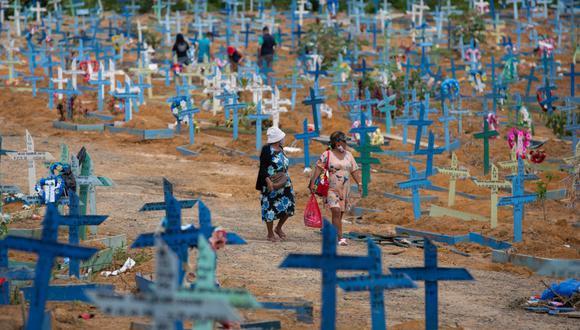 Brasil contabiliza 444.094 decesos y casi 15,9 millones de casos confirmados de coronavirus desde el estallido de la pandemia, hace 15 meses. (Foto: Michael DANTAS / AFP)