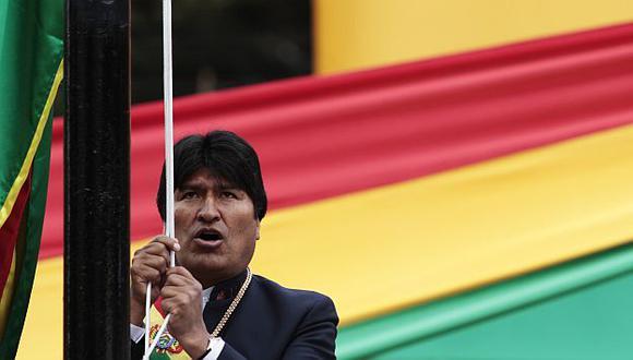 El presidente de Bolivia durante un acto público en La Paz. (Reuters)