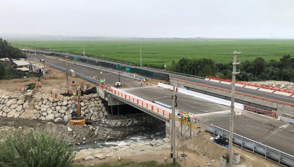 Puente Fortaleza. Autopista del Norte (Aunor), concesionaria de la Red Vial 4, es la encargada de la ejecución de la obra valorizada en más de 20 millones de soles.