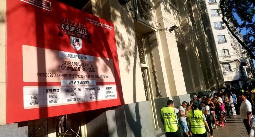 Se habilitaron 14 locales de votación para los peruanos en Argentina. (Foto: Facebook de la Cancillería del Perú en Buenos Aires)