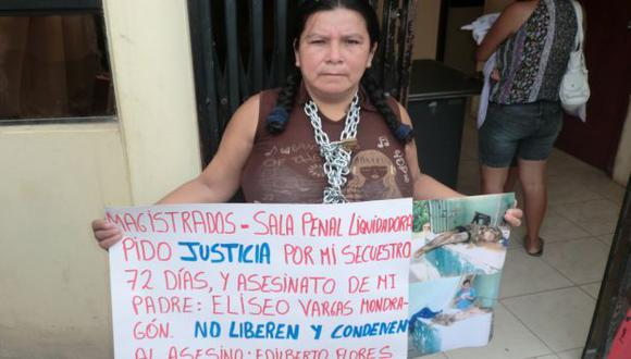 EXIGEN JUSTICIA. Víctima de juicio popular que lideró Santos pide que no liberen a cómplice de este. (Difusión)