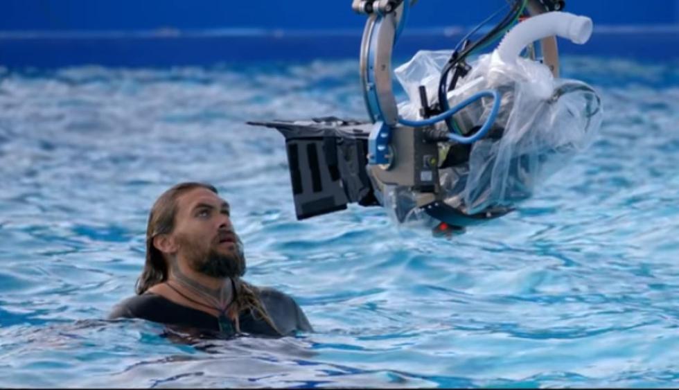 """Así fueron las grabaciones de Jason Momoa en """"Aquaman"""". (Foto: Captura de video)"""