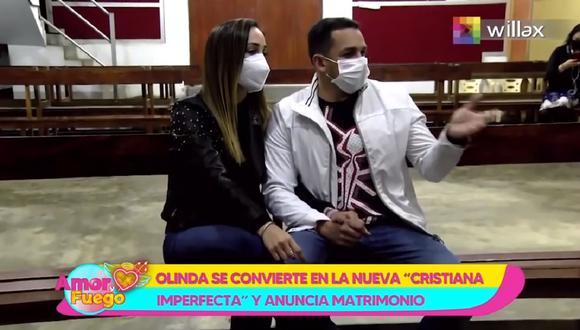 Olinda Castañeda anuncia que se suma a la fila de las casadas. (Foto: Captura Willax TV)