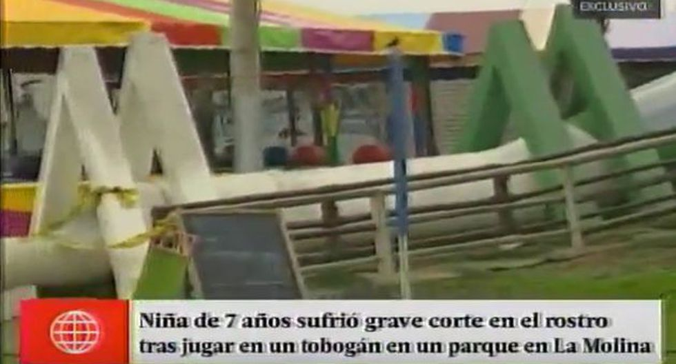 La Molina: Menor de 7 años sufrió corte en la frente tras jugar en tobogán municipal (América TV)