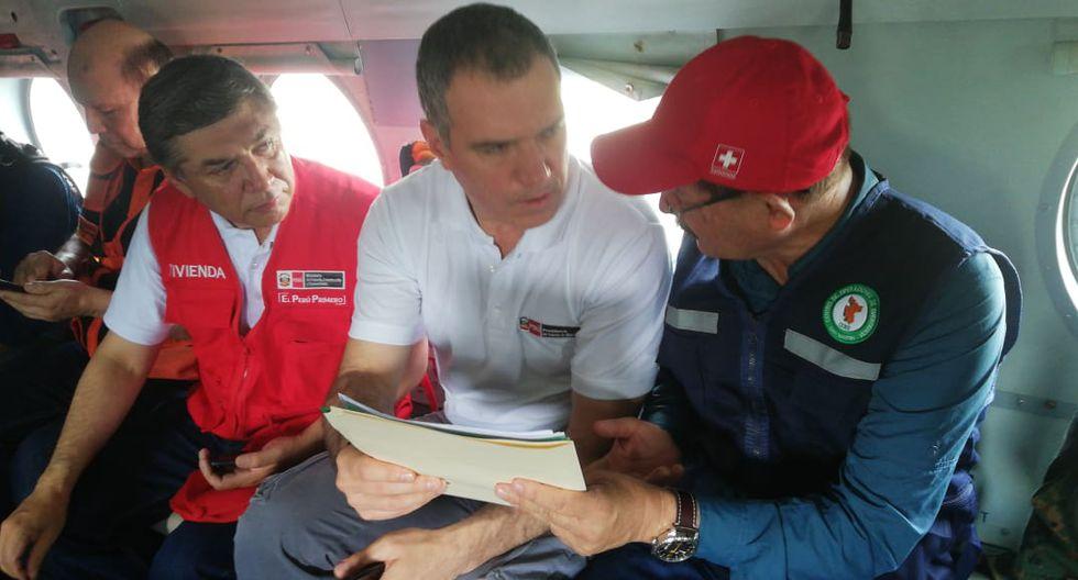 Premier viajó a región San Martín junto con el ministro de Vivienda Miguel Estrada (Rolly Reyna/GEC).