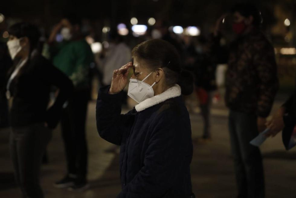Los asistentes siguieron la misa de pie y manteniendo una distancia prudente ante los casos de COVID-19 que se registran en el país. (Fotos: César Campos /@photo.gec)