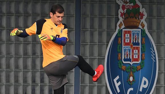 Iker Casillas se unió hace unos días a la pretemporada del Porto FC. (Foto: AFP)