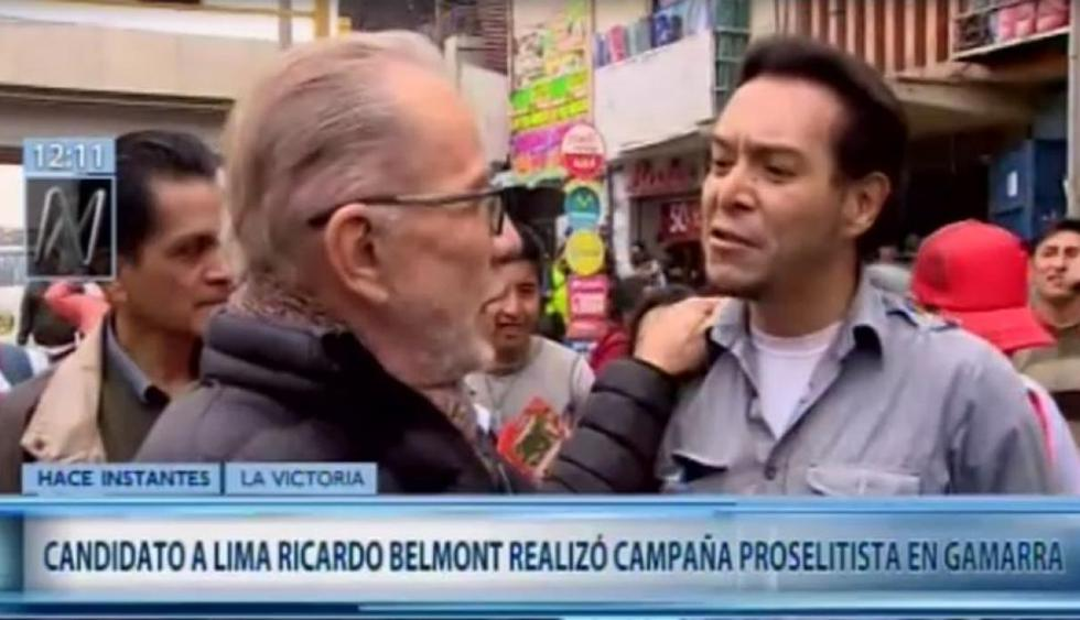 "Hombre a quien Ricardo Belmont tildó de ""delincuente"" era un profesor de San Marcos (Canal N)"