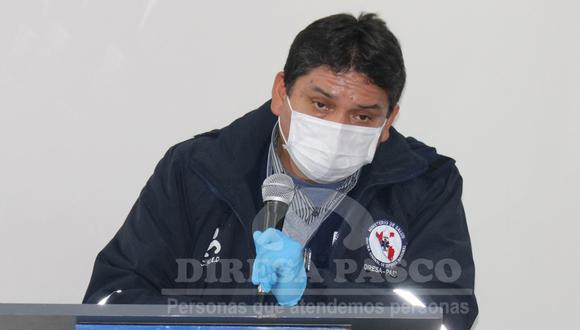 El director regional de Salud de Pasco, Gabriel Borrovic, precisó que hay 11 muestras pendientes de resultados. (Foto: Diresa Pasco)
