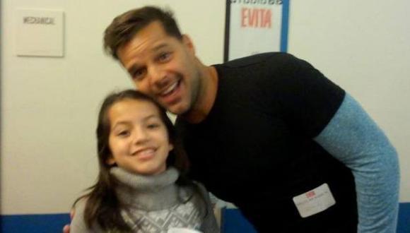 La pequeña se ha convertido en una consentida de Ricky Martin. (Jimy Reyes)