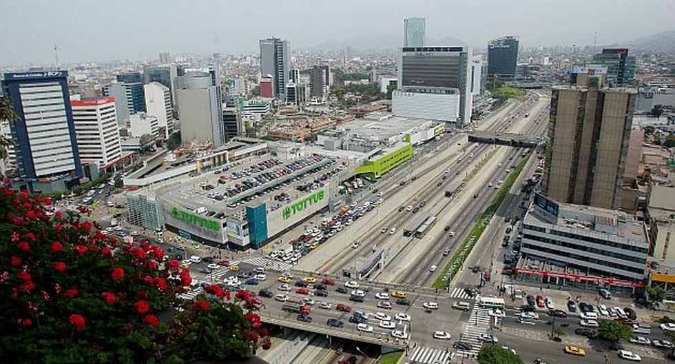 Vista panorámica del centro financiero de Lima, en San Isidro. (USI)