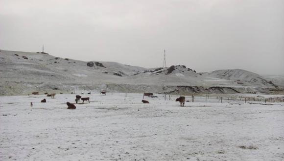 Nevada afecta a pobladores del distrito de Kunturkanki. (Foto: Cusco en Portada)
