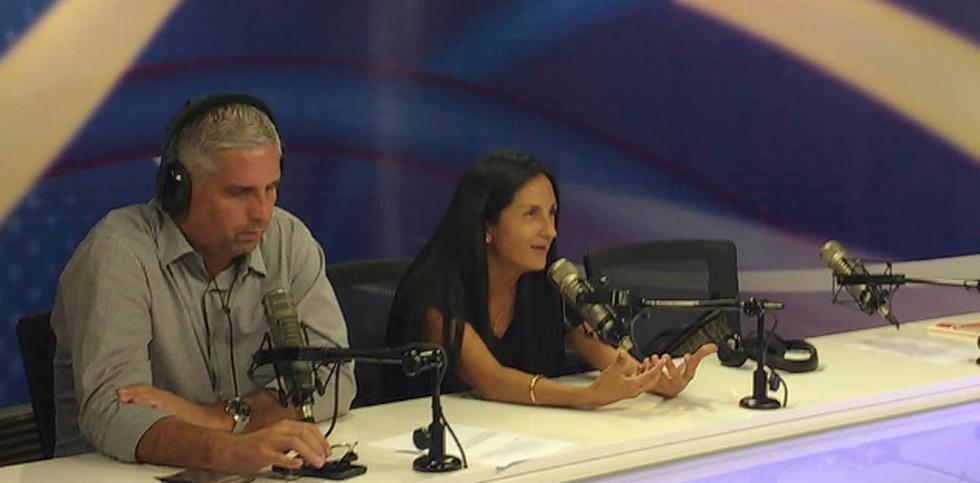 Milagros Llamosa conversó con el comentarista Diego Rebagliati. (RPP)