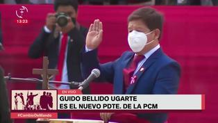 Guido Bellido Ugarte jura como nuevo presidente del Consejo de Ministros
