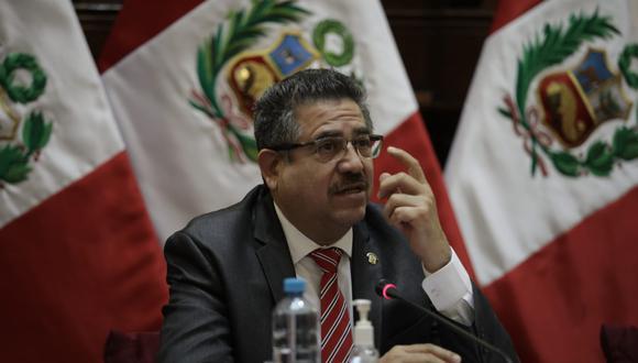 El titular del Legislativo dijo que buscará el respaldo de otras bancadas a su iniciativa de reforma constitucional. (Foto: GEC/ Anthony Niño de Guzmán)