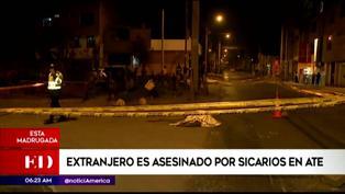 Ate: Ciudadano extranjero fue acribillado por sujetos en motocicleta