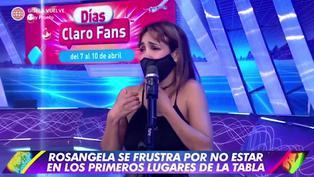 Esto es guerra: Rosángela Espinoza rompe en llanto al decir que no quiere ser eliminada