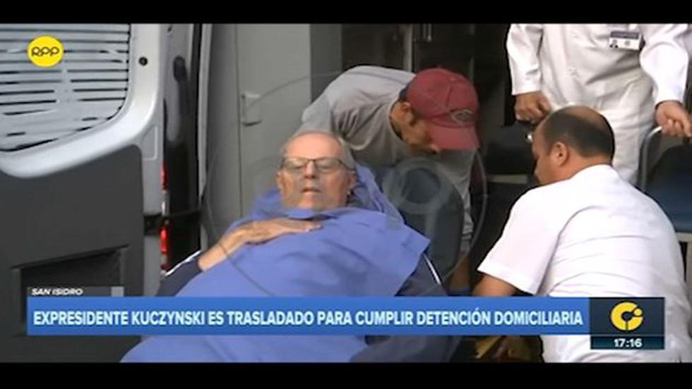 PPK fue trasladado a su casa con ambulancia. (RPP)