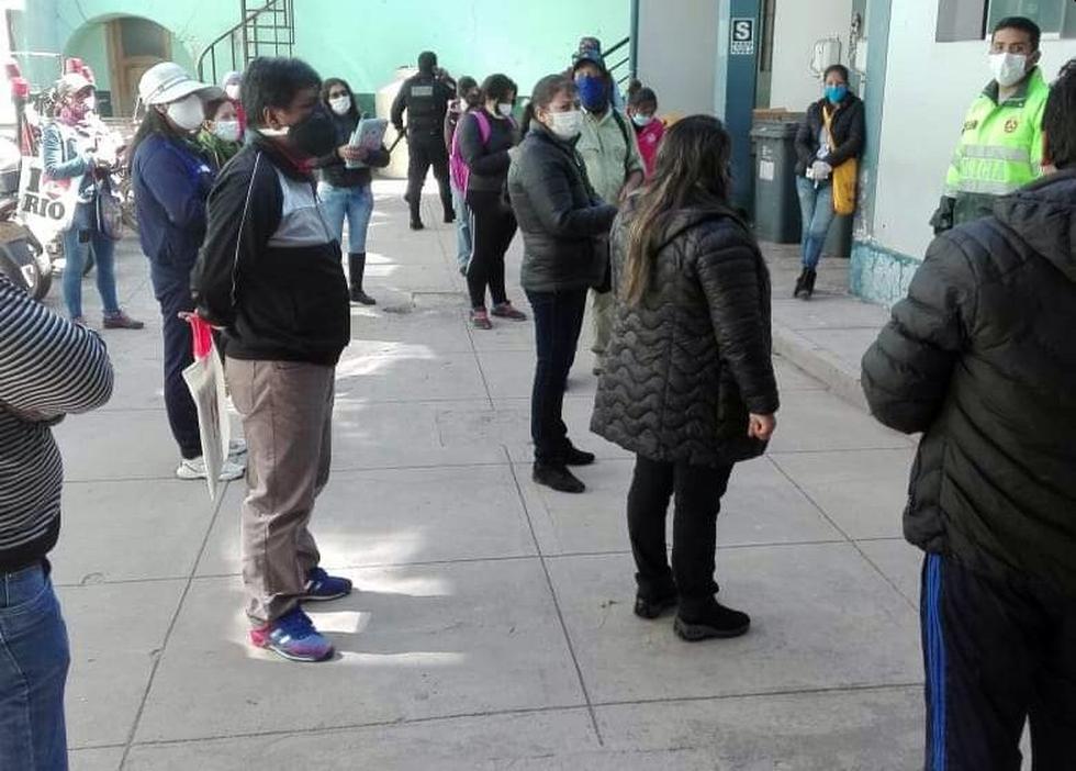 Los padres de familia fueron llevados a la comisaría del Cusco. (Foto: Juan Sequeiros)