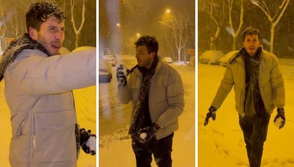 Sebastian Yatra se encuentra en España y  ha compartido en redes sociales cómo se entretiene con la nieve. (Fotos: Instagram / @sebastianyatra).