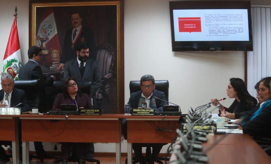 """La congresista Úrsula Letona cuestionó que se haya difundido de forma """"tendenciosa"""" chats privados de Fuerza Popular. (Foto: Lino Chipana / GEC)"""