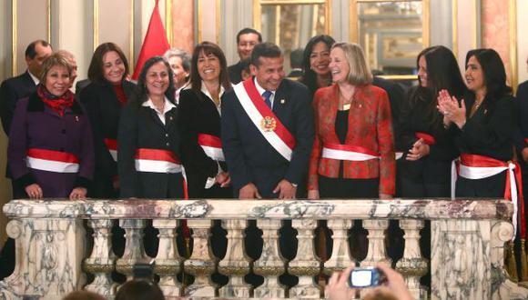 Paridad de género. Humala tiene ahora nueve mujeres en el gabinete, algo sin precedentes. (Rafael Cornejo)