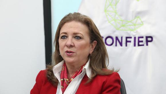 María Isabel León, presidenta de Confiep. (Foto: GEC)