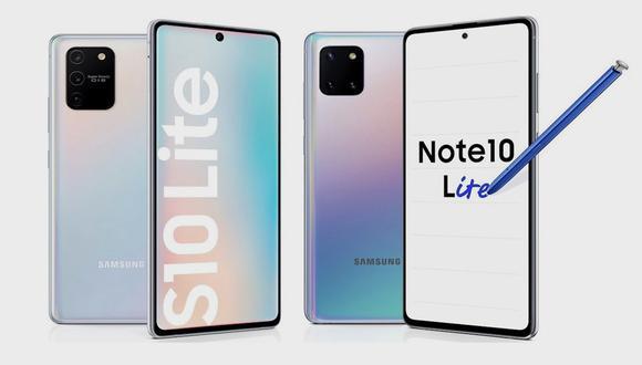 Estos son los nuevos Samsung Galaxy Note 10 y S10 Lite. ¿En qué se diferencian? (Foto: Samsung)