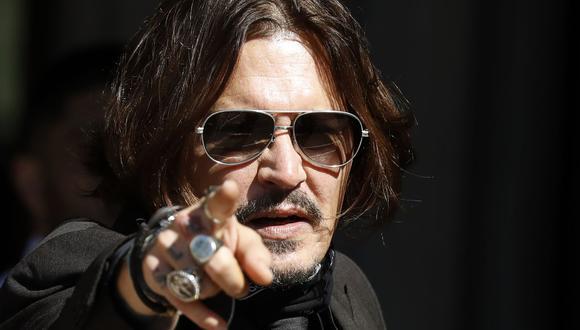 """Johnny Depp denunció a diario The Sun por llamarlo """"maltratador de esposas"""" en nota sobre supuesta agresión a Amber Heard. (Foto: Justin Tallis / AFP)"""