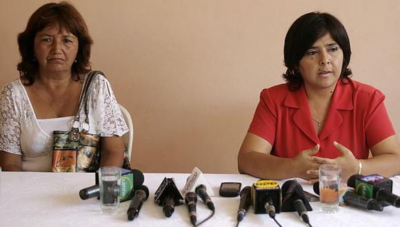 Corina Escobedo se reunió con la ministra Ana Jara. (Alberto Orbegoso)