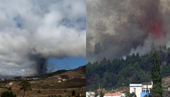 España: Se registra erupción del volcán en la isla de La Palma
