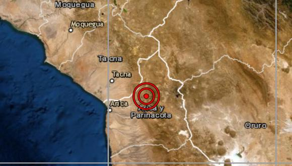 De acuerdo con el IGP, el epicentro de este movimiento telúrico se ubicó a 60 kilómetros al sureste del distrito de Calama, ubicado en la provincia Tacna. (IGP)