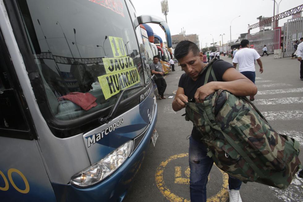 Un panorama similar se observó en el terminal terrestre de Yerbateros en San Luis. (Foto: Captura RPP Noticias/Andina)
