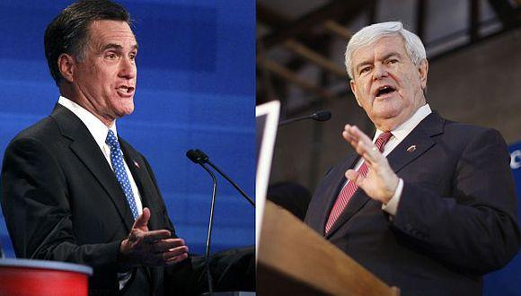 Caucus de mañana podría definir favoritismo de Romney (izquierda) o avance de Gingrich. (Agencias)