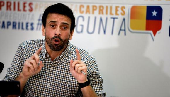 Opositor venezolano Henrique Capriles impedido para ser candidato presidencial