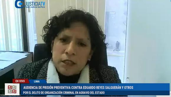 La fiscal Vanessa Díaz presentó nuevas evidencias contra Los Dinámicos del Centro. (Captura Justicia TV)