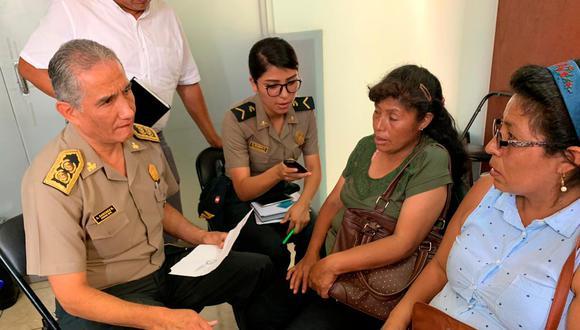 Comisionado condenó que Jhoner Barzola Hurtado, presunto agresor de Delcy Galarza, haya sido liberado por Poder Judicial. (Foto: Mininter)