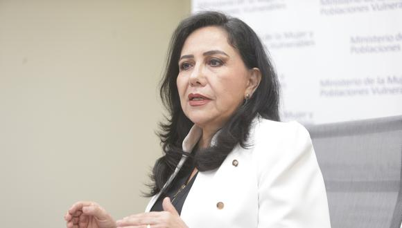 Ministra de la Mujer lamentó los casos de feminicidio en el país. (Foto: GEC)