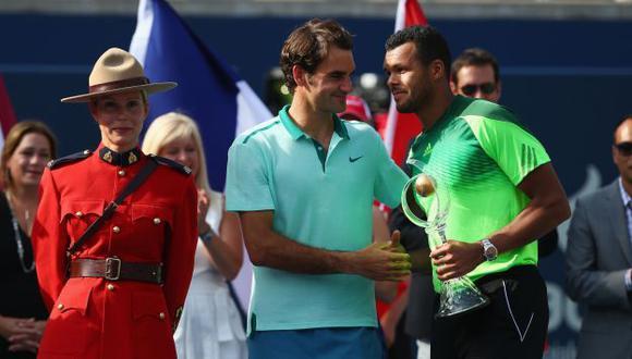 El francés mejoró su récord de 5-1 ante Federer. (AFP)