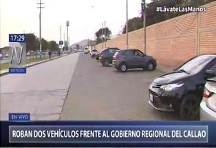 Reportan el robo de dos vehículos en el frontis de la sede central del Gobierno Regional del Callao | VIDEO