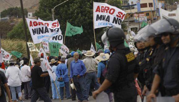 Las protestas contra el proyecto minero Tío María continúan en Arequipa. (Foto: Referencial/GEC)