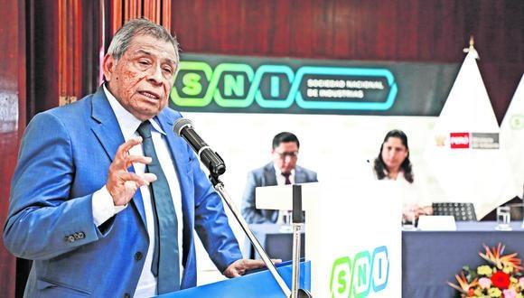 """""""No hay ninguna empresa de alimentos parada"""", asegura Ricardo Márquez (Juan Ponce/GEC)."""