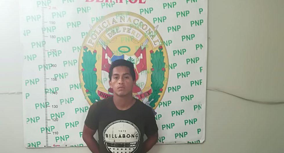 Miguel Aranda Palma (28) fue intervenido en inmediaciones de la avenida Gran Chimú. (Foto: Difusión PNP)